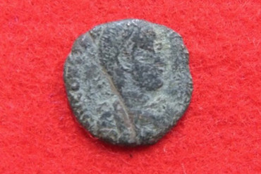 Constantine the Great on a Roman coin found in Japan (Uruma Board of Education)
