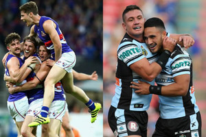Western Bulldogs and Cronulla Sharks (Getty Images)