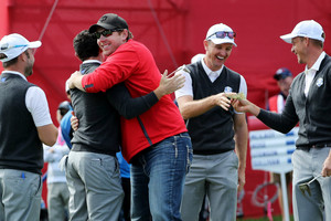 Golf fan Dave Johnson putts his way into Ryder Cup history