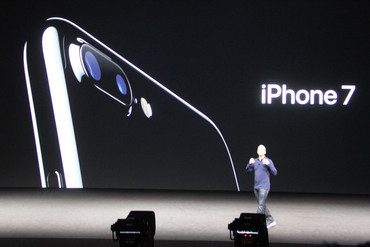 Tim Cook on stage (Newshub.)