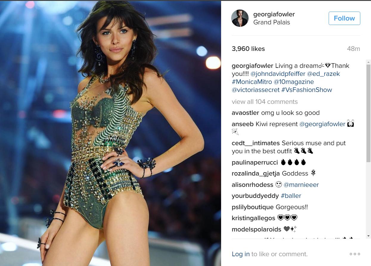 Georgia Fowler 2016 Victoria's Secret Fashion Show