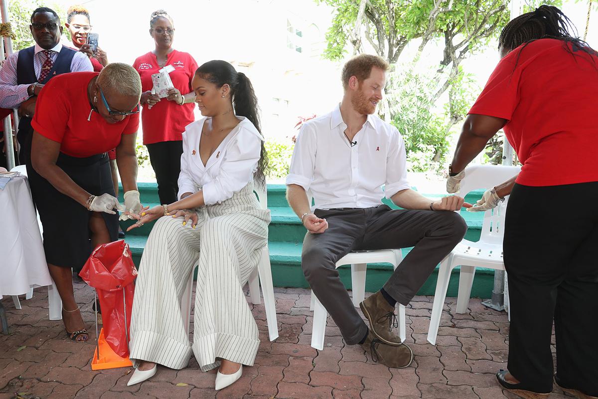 Rihanna Prince Harry HIV test